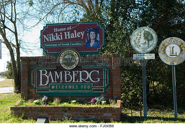 bamberg-south-carolina-welcome-sign-usa-fj0xb6